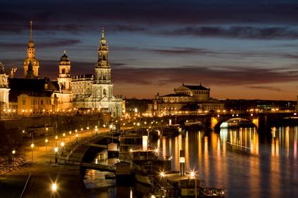 Abendstimmung am Elbufer Dresden